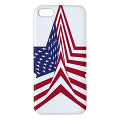 A Star With An American Flag Pattern Iphone 5s/ Se Premium Hardshell Case by Nexatart