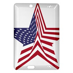 A Star With An American Flag Pattern Amazon Kindle Fire Hd (2013) Hardshell Case by Nexatart