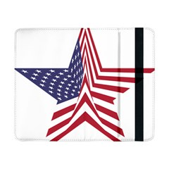 A Star With An American Flag Pattern Samsung Galaxy Tab Pro 8 4  Flip Case
