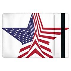 A Star With An American Flag Pattern Ipad Air Flip