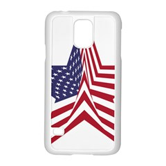 A Star With An American Flag Pattern Samsung Galaxy S5 Case (white)