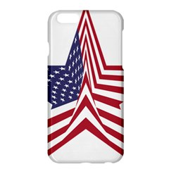 A Star With An American Flag Pattern Apple Iphone 6 Plus/6s Plus Hardshell Case by Nexatart