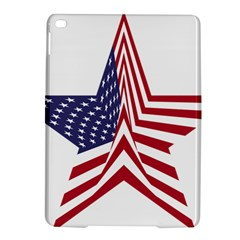 A Star With An American Flag Pattern Ipad Air 2 Hardshell Cases by Nexatart