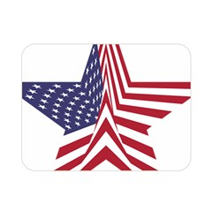 A Star With An American Flag Pattern Double Sided Flano Blanket (mini)  by Nexatart