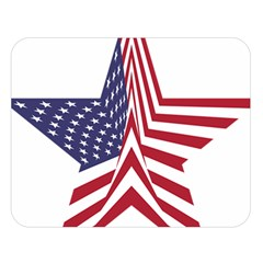 A Star With An American Flag Pattern Double Sided Flano Blanket (large)