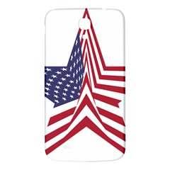 A Star With An American Flag Pattern Samsung Galaxy Mega I9200 Hardshell Back Case