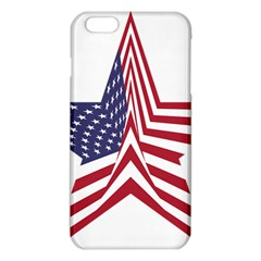 A Star With An American Flag Pattern Iphone 6 Plus/6s Plus Tpu Case