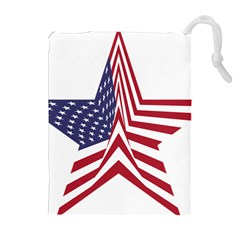 A Star With An American Flag Pattern Drawstring Pouches (extra Large)