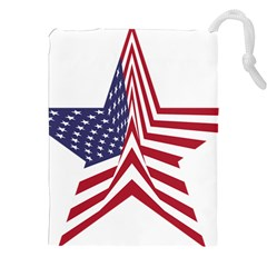 A Star With An American Flag Pattern Drawstring Pouches (xxl) by Nexatart