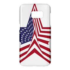 A Star With An American Flag Pattern Samsung Galaxy S7 Hardshell Case