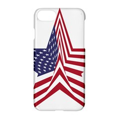 A Star With An American Flag Pattern Apple Iphone 7 Hardshell Case by Nexatart