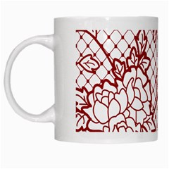 Transparent Decorative Lace With Roses White Mugs by Nexatart
