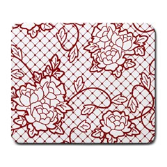 Transparent Decorative Lace With Roses Large Mousepads by Nexatart