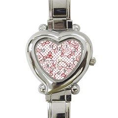 Transparent Decorative Lace With Roses Heart Italian Charm Watch