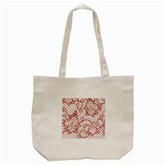 Transparent Decorative Lace With Roses Tote Bag (cream)