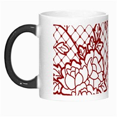 Transparent Decorative Lace With Roses Morph Mugs
