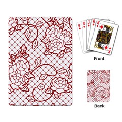 Transparent Decorative Lace With Roses Playing Card by Nexatart