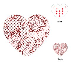 Transparent Decorative Lace With Roses Playing Cards (heart)  by Nexatart