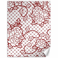 Transparent Decorative Lace With Roses Canvas 12  X 16   by Nexatart