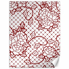 Transparent Decorative Lace With Roses Canvas 36  X 48   by Nexatart