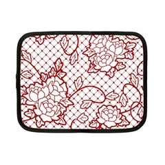 Transparent Decorative Lace With Roses Netbook Case (small)  by Nexatart
