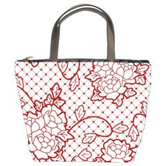 Transparent Decorative Lace With Roses Bucket Bags by Nexatart