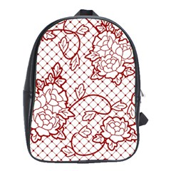 Transparent Decorative Lace With Roses School Bags(large)
