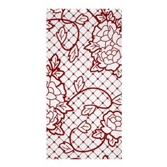 Transparent Decorative Lace With Roses Shower Curtain 36  X 72  (stall)