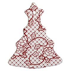 Transparent Decorative Lace With Roses Christmas Tree Ornament (two Sides)