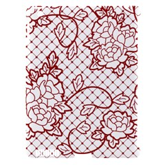 Transparent Decorative Lace With Roses Apple Ipad 3/4 Hardshell Case (compatible With Smart Cover)