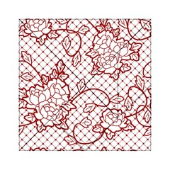 Transparent Decorative Lace With Roses Acrylic Tangram Puzzle (6  X 6 )