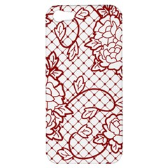 Transparent Decorative Lace With Roses Apple Iphone 5 Hardshell Case