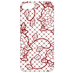 Transparent Decorative Lace With Roses Apple Iphone 5 Classic Hardshell Case