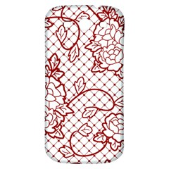 Transparent Decorative Lace With Roses Samsung Galaxy S3 S Iii Classic Hardshell Back Case by Nexatart