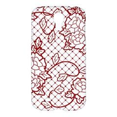 Transparent Decorative Lace With Roses Samsung Galaxy S4 I9500/i9505 Hardshell Case by Nexatart
