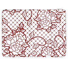 Transparent Decorative Lace With Roses Samsung Galaxy Tab 7  P1000 Flip Case
