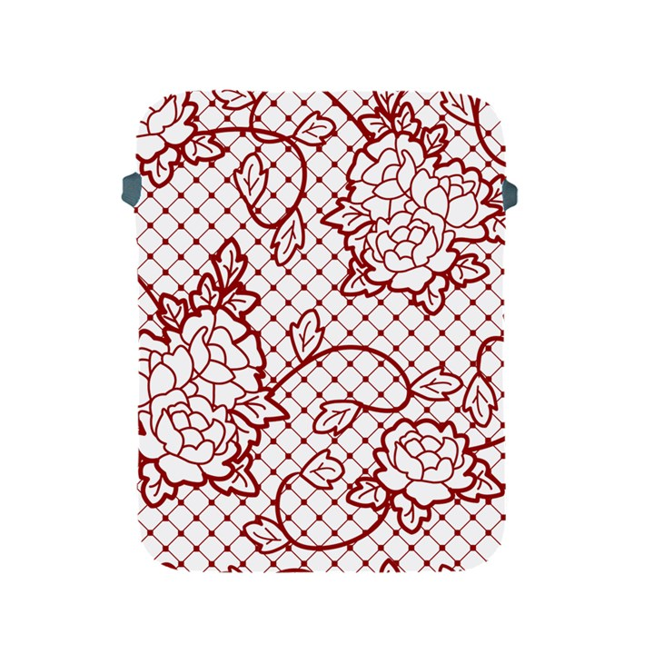 Transparent Decorative Lace With Roses Apple iPad 2/3/4 Protective Soft Cases