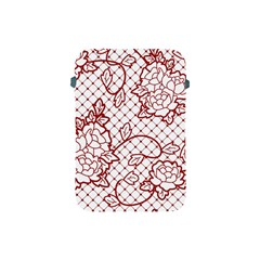 Transparent Decorative Lace With Roses Apple Ipad Mini Protective Soft Cases by Nexatart