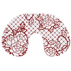 Transparent Decorative Lace With Roses Travel Neck Pillows by Nexatart