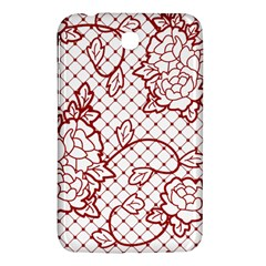 Transparent Decorative Lace With Roses Samsung Galaxy Tab 3 (7 ) P3200 Hardshell Case  by Nexatart