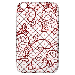 Transparent Decorative Lace With Roses Samsung Galaxy Tab 3 (8 ) T3100 Hardshell Case