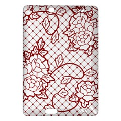 Transparent Decorative Lace With Roses Amazon Kindle Fire Hd (2013) Hardshell Case by Nexatart