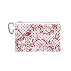 Transparent Decorative Lace With Roses Canvas Cosmetic Bag (s)