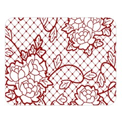 Transparent Decorative Lace With Roses Double Sided Flano Blanket (large)
