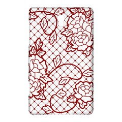 Transparent Decorative Lace With Roses Samsung Galaxy Tab S (8 4 ) Hardshell Case  by Nexatart