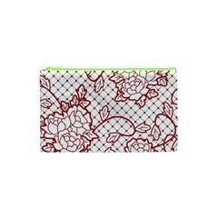 Transparent Decorative Lace With Roses Cosmetic Bag (xs) by Nexatart