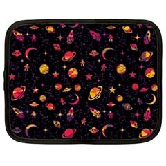 Space Pattern Netbook Case (xxl)  by ValentinaDesign