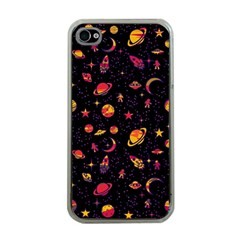 Space Pattern Apple Iphone 4 Case (clear) by ValentinaDesign