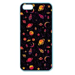 Space Pattern Apple Seamless Iphone 5 Case (color) by ValentinaDesign