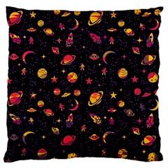 Space Pattern Large Flano Cushion Case (one Side) by ValentinaDesign